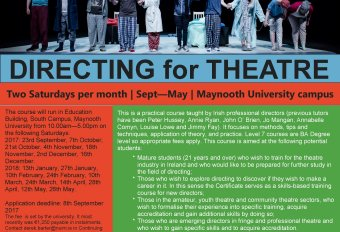 Maynooth University Level 7 Certificate in Directing for Theatre